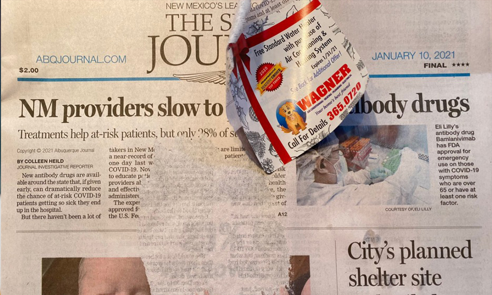 Catharsis of the morning newspaper